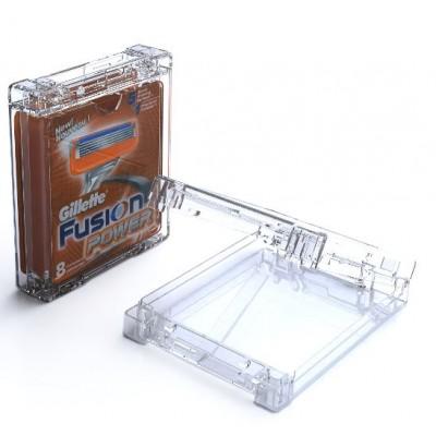 Boîtier Antivols pour 8 lames de rasoirs Fusion - modèle T-CBLF