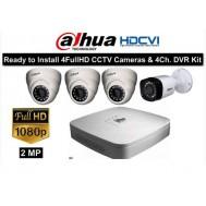 """Pack cctv 4 caméras HD CVI """"4 Megapixels"""""""