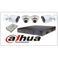 Pack CCTV 4 caméras IP Megapixels